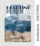 vector flyer template with... | Shutterstock .eps vector #296274902