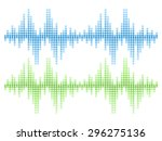 isolated sound audio wave...   Shutterstock .eps vector #296275136