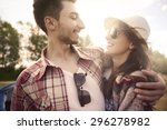 couple in love on the camping | Shutterstock . vector #296278982