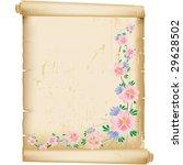 grunge floral background on... | Shutterstock .eps vector #29628502