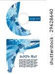 cd rom  blue abstract...   Shutterstock .eps vector #29628640