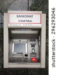 Small photo of WARSAW, POLAND - SATURDAY, JUNE 6, 2015: A Bank Pekao ATM. Bank Polska Kasa Opieki Sp���³lka Akcyjna, commonly using the shorter name Bank Pekao S.A., is a bank based in Warsaw