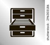 drawer | Shutterstock .eps vector #296303186