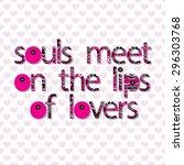"original writing times ""souls... | Shutterstock .eps vector #296303768"