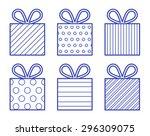 blue gift boxes illustration | Shutterstock .eps vector #296309075