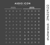 audio bold and thin line icons | Shutterstock .eps vector #296319122