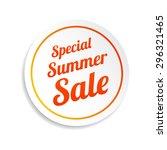 special summer sale sticker | Shutterstock .eps vector #296321465