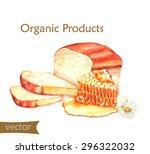 hand drawn watercolor food... | Shutterstock .eps vector #296322032