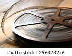 top view image of old 8 mm...   Shutterstock . vector #296323256