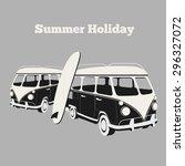 Vintage Surf Poster. Van And...