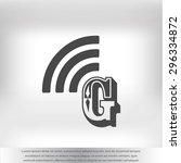 letter g  icon  | Shutterstock .eps vector #296334872