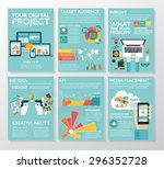 big infographics in flat style. ... | Shutterstock .eps vector #296352728