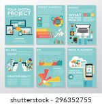 big infographics in flat style. ... | Shutterstock .eps vector #296352755