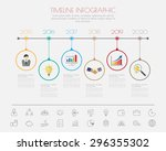 color step design with colour... | Shutterstock .eps vector #296355302