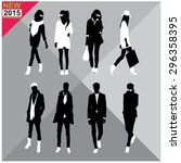 set of men and women black... | Shutterstock .eps vector #296358395