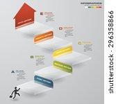 abstract business chart. 5... | Shutterstock .eps vector #296358866