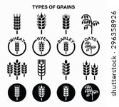 Types Of Grains  Cereals Icons...