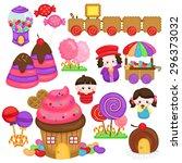 candyland fantasy | Shutterstock .eps vector #296373032