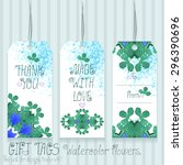 gift tags set for design.... | Shutterstock .eps vector #296390696