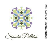 vintage ornamental square logo. ... | Shutterstock .eps vector #296391752
