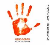 hand print. vector illustration | Shutterstock .eps vector #296406212