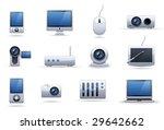 hi tech equipment icon set   Shutterstock .eps vector #29642662