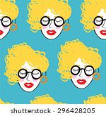 crowd of funny peoples ...   Shutterstock .eps vector #296428205