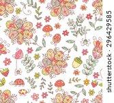 forest vector seamless pattern. ... | Shutterstock .eps vector #296429585