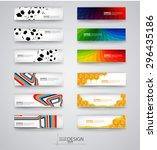 business design templates. set... | Shutterstock .eps vector #296435186