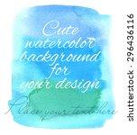 hand drawn watercolor pastel...   Shutterstock .eps vector #296436116