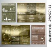 brochure design for business... | Shutterstock .eps vector #296437436