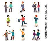 several people isometric 3d ... | Shutterstock .eps vector #296439236