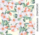 bouquet of white flowers.... | Shutterstock . vector #296439245