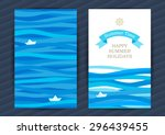 bright summer holidays cards... | Shutterstock .eps vector #296439455