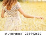 natural beauty. beautiful girl... | Shutterstock . vector #296442692