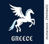 Pegasus Symbol In Flat Style...