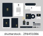 corporate identity template for ... | Shutterstock .eps vector #296451086