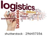 logistics word cloud concept | Shutterstock . vector #296457356