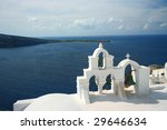 santorini church bell - stock photo