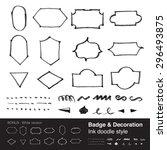 vector   badge   decoration... | Shutterstock .eps vector #296493875
