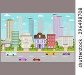 city buildings background image ...   Shutterstock .eps vector #296498708