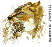 Lioness And Cub T Shirt...