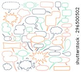 speech balloons collection.... | Shutterstock .eps vector #296500502