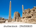 obelisk of queen hapshetsut in... | Shutterstock . vector #296500835