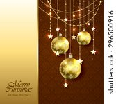 christmas background with... | Shutterstock . vector #296500916