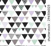 seamless scandinavian geometric ... | Shutterstock .eps vector #296506025