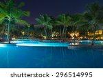 Swimming Pool In Night...