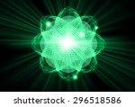 dark green color light abstract ... | Shutterstock .eps vector #296518586