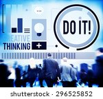 do it goal business improvement ... | Shutterstock . vector #296525852