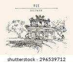 hue  vietnam  southeast asia.... | Shutterstock .eps vector #296539712